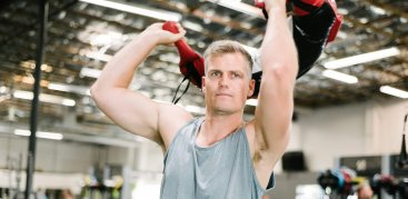 trainer demonstrating exercise
